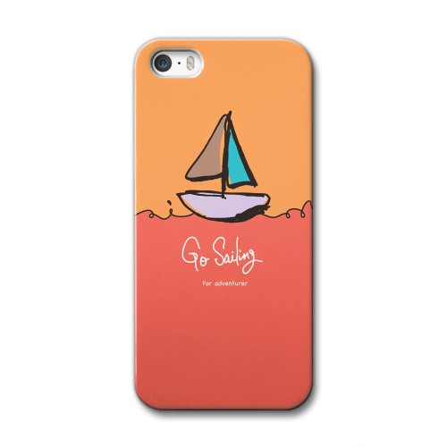 33design×collaborn iPhone5/5s専用スマートフォンケース Go Sailing Orange BR-I5S-051