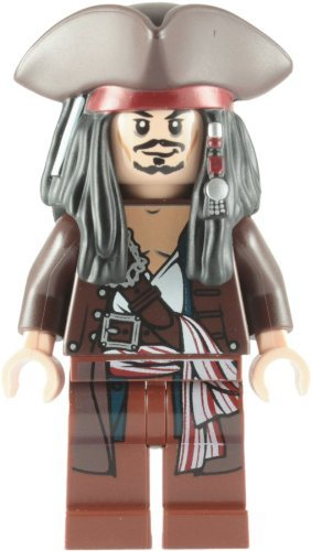 Lego Pirates Of The Caribbean: Captain Jack Sparrow With Tricorne Minifigure - 1