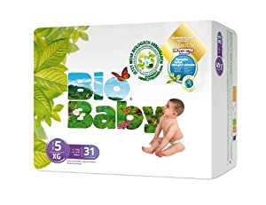 Bio Baby Biodegradable Nappies Size 5 - Pack of 31