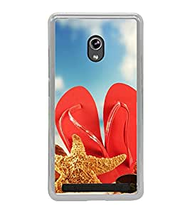 Beach Slippers 2D Hard Polycarbonate Designer Back Case Cover for Asus Zenfone 6 A600CG