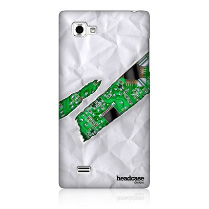 Head Case Crumpled Ripped Design Hard Back Case Cover For LG Optimus 4X HD P880