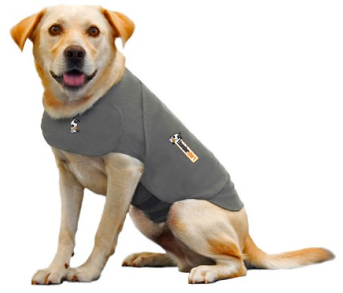 Thundershirt Dog Jacket For Anxiety, Large, Solid Grey