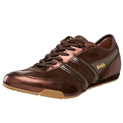Gola Women's Ace Sneaker, Brown/Bronze, 8 M US