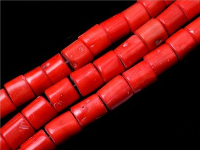 15x15-15x18mm genuine red coral beads strand