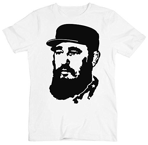 Fidel Castro Stencil Portrait Men's T-Shirt Medium