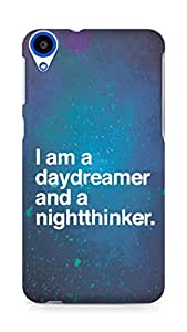 AMEZ daydreamer and night thinker Back Cover For HTC Desire 820