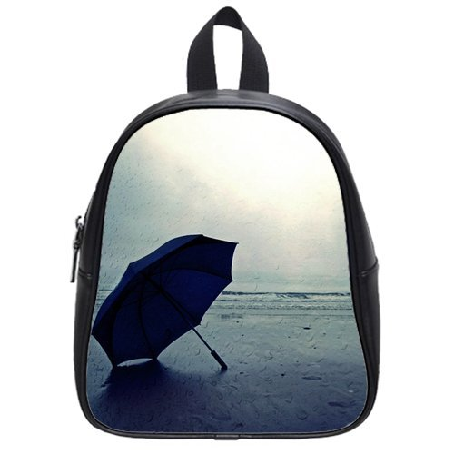 Anhome Blue Umbrella Put On The Seashore Custom School Bag/Backpack front-1049722