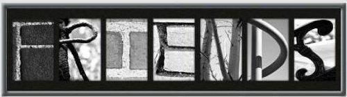 Alphabet Wall Letter Art-FRIENDS- Framed Photo