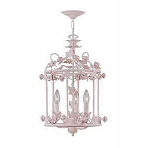"Amazon.com: Wrought Iron Crystal Chandelier Chandeliers H19"" x W20"