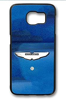 buy S6 Case,Hard Shell Plastic Pc [Black] Cover Snugly Sleek Slim Light Weight Frosted Colorful Vibrant Fit Headphones Port Oil Water Proof Samsung Galaxy S6-Aston Martin On Blue