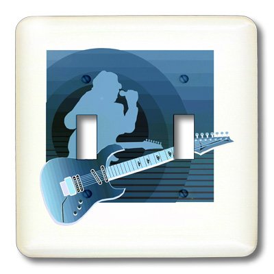Lsp_175917_2 Susans Zoo Crew Music Instrument Guitar - Electric Guitar Singer Invert Blue - Light Switch Covers - Double Toggle Switch