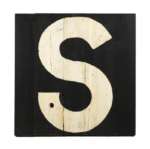 ZENTIQUE Wooden Letter, Monogrammed S - 1