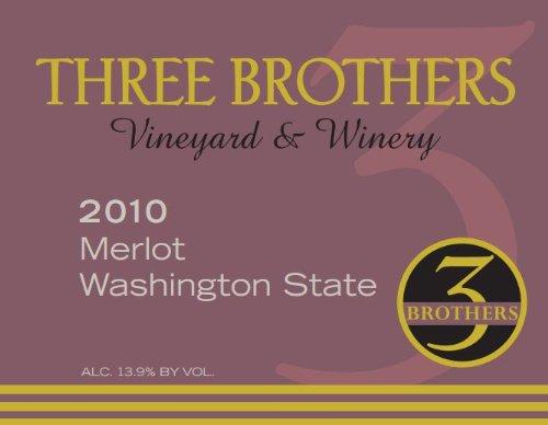 2010 Three Brothers Vineyard & Winery Rattlesnake Hills Merlot 750 Ml