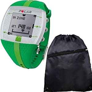 Polar FT4F 90048731 training computer Green w Cinch Bag