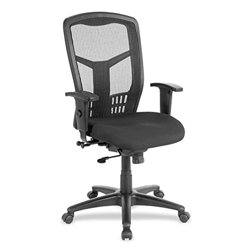 "Lorell  Exec High-Back Swivel Chair, 28-1/2""x28-1/2""x45"", Black"