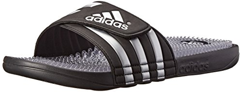 Adidas Performance Men'S Adissage Fade Slide Sandal, Core Black/Metallic Silver/Running White, 7 M Us back-728075