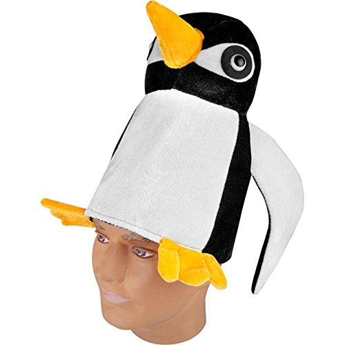 Adult's Velvet Penguin Costume Hat