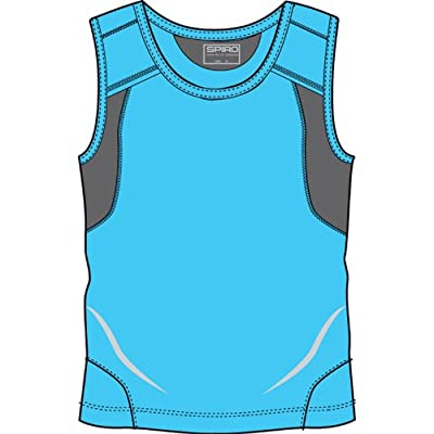 Spiro Mens Colours Athletic Running Training Sports Sleeveless Vest Top by Spiro