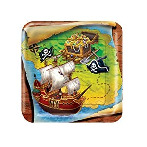 Click to buy Pirate Birthday Party Ideas: Buried Treasure Dessert Plates from Amazon!