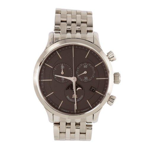 Maurice Lacroix  Les Classiques - Reloj de cuarzo para hombre, con correa de acero inoxidable, color plateado