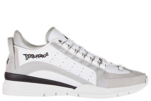 Dsquared2 Herrenschuhe Herren Leder Schuhe Sneakers 551 Weiß EU 43 W16SN4047132137 thumbnail