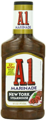 A.1. Steak House Marinade, New York, 16-Ounce Bottles (Pack of 6)