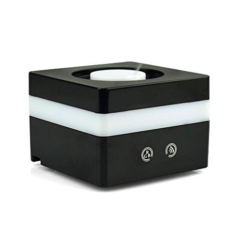 BESTEK®Ultra Mini/ Aromaterapia innovativa e Diffusore Elegante/ Umidificatore Con 7 colori che Cambiano Variabile, Nebbia Monte Regolabile e AC Spina & Porta USB BTAM502BK