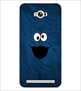 PrintDhaba cute smilie D-1141 Back Case Cover for ASUS ZENFONE MAX ZC550KL (Multi-Coloured)
