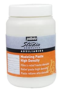 Pebeo Studio Acrylics Auxiliaries - High Density Modelling Paste 250ml jar,White
