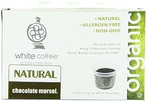 White Coffee Organic Single Serve Coffee, Chocolate Morsel, 10 Count