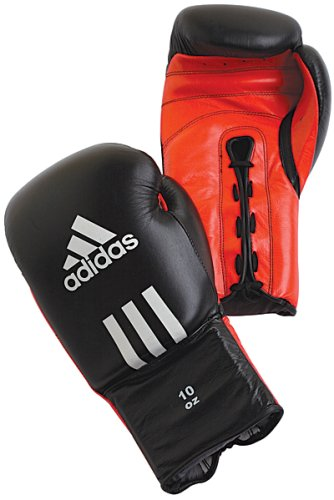 Adidas Kombat Boxing Gloves - Black/Red - 10oz