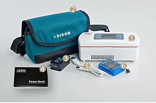 Dison New Portable Insulin Cooler Refrigerated Box / Drug Reefer / Small Refrigerator With Battery Working 24 Hours