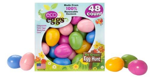 Plastic Easter Eggs - Eco Eggs Easter Eggs - 48 Count