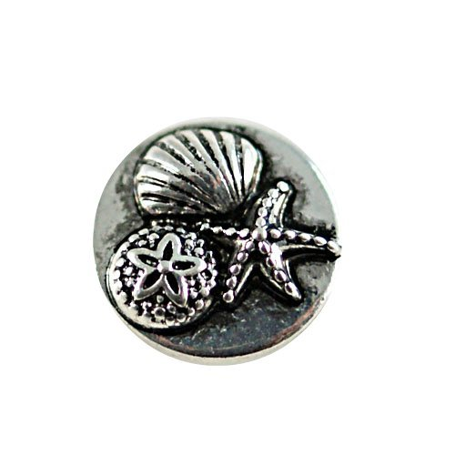 Chunk Snap Charm Shell Sand Dollar and Starfish Mini Petite 12mm (1/2