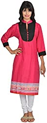 Goodyygoods Women's Cotton Regular Fit Kurti (GG 44, Pink, X-Large)