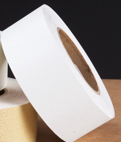 "Safe Way Traction 1"" X 60' Foot Roll White Adhesive Vinyl Anti Slip Non Skid Safety Tape for Bath Tub"
