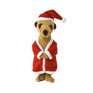 Santa Meerkat Christmas Dog Toy