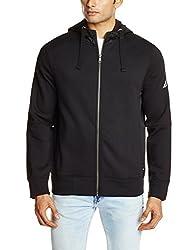 Nautica Men's Poly Cotton Sweatshirt (8907163463814_NTK43293M0TB_XX-Large True Black)