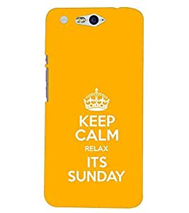 Fuson Premium It`S Sunday Printed Hard Plastic Back Case Cover for INFOCUS M812