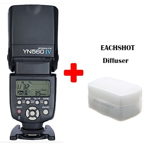 Yongnuo-YN-560-IV-Flash-Speedlite-for-Canon-Nikon-Pentax-Olympus-DSLR-Cameras-With-EACHSHOT-Diffuser