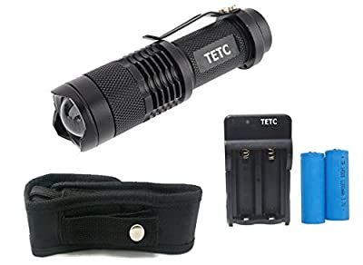 WAYLLSHINE(TM) Advanced Gift Box 2PCS 300 Lumen LED Adjustable Focus Flashlight CREE Q5 Torch FlashLigh for Riding, Camping, Hiking, Hunting & Indoor Activities.