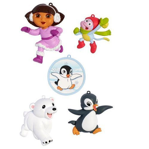 American Greetings 5-Piece Christmas Ornament Set - Dora the Explorer