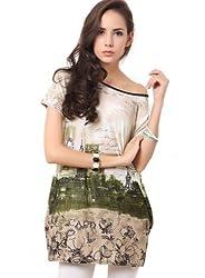 Fashion Womens Floral Print Chiffon Tops Long Sleeve Shirt Casual Blouse