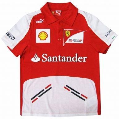 Shirt Scuderia Ferrari F1 Puma-Polo da bambino, unisex adulto
