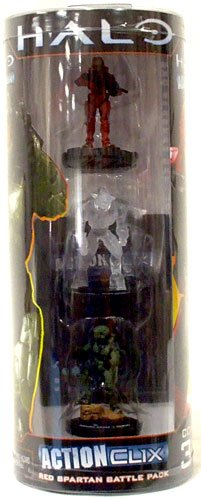 Buy Low Price NECA Halo ActionClix Trading Miniature Figure Game Red Spartan Battle Pack (B003XDPQVO)