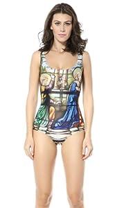Buy RANOGI New Goddess Print One Piece Swimsuit Swimwear Bath Cloth by RANOGI