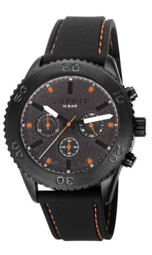 Esprit  ES106871001 - Reloj de cuarzo para hombre, con correa de plástico, color negro