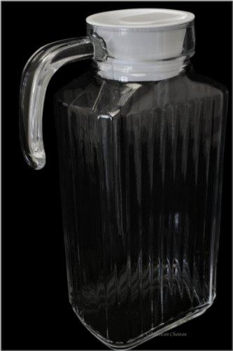 57Oz / 1.7L Water Iced Tea Jar Pitcher Fridge Jug With Locking Plastic Lid