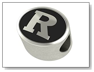 Rutgers University College Bead Fits Most Pandora Style Bracelets Including Pandora Chamilia Biagi Zable Troll and More. This High Quality Bead is Made In The U.S.A. And Is In Stock for Immediate Shipping