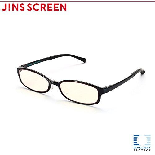 【JINS PC スクエア ハイコントラストレンズ】PC(ディスプレイ)専用メガネ (度なし)(BLACK)
